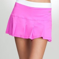 BB Pleated Tennis Skirt -Bebe Sport Bebesport Wetsuit Pink/white-xs