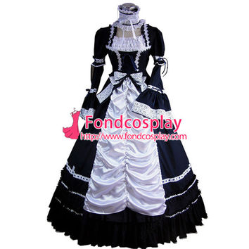 ping Gothic Lolita Punk Medieval Gown Long Evening Dress Jacket Tailor-made Alternative Measures - Brides & Bridesmaids - Wedding, Bridal, Prom, Formal Gown
