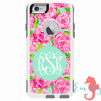 Monogrammed Lilly Pulitzer Inspired Otterbox Commuter Case - iPhone 6 Plus, iPhone 6, iPhone 5/5s, Galaxy S6, Galaxy S5, Galaxy Note 4