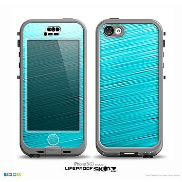 The Light Blue Slanted Streaks Skin for the iPhone 5c nüüd LifeProof Case
