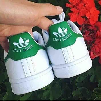 Adidas stan smith trendy men and women fashion sports shoes F Green