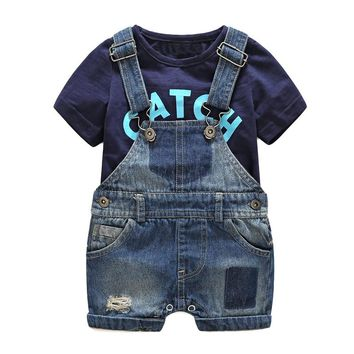 Carters Official Store Summer Baby Clothes Babeis Fashion Newborn Overalls T shirt Cotton Costume Hot Sale Boy Size 70 80 90 95
