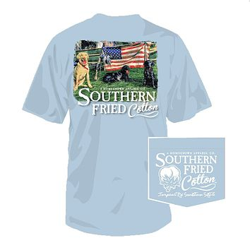 Liberty Guard Tee in Southern Sky by Southern Fried Cotton