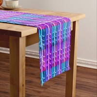 Industrial Minimalism Hot Pink Abstract Design - Short Table Runner
