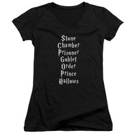 Harry Potter - Titles Junior V Neck Officially Licensed Apparel