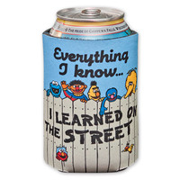 Sesame Street Everything I Know Beer Koozie | WearYourBeer.com