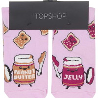 Peanut Butter and Jelly Socks