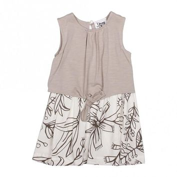 Spring Girls Flower Dress for Babies & Toddlers, Grey