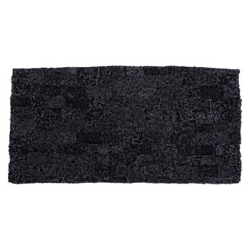 Mia Patchwork Rug, Black