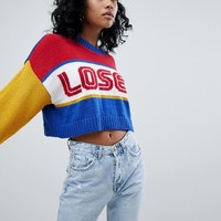 The Ragged Priest Loser Knitted Jumper at asos.com