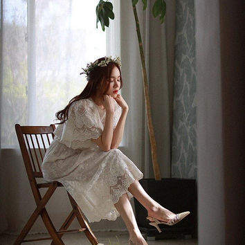 Korean Classic Lace wedding dress
