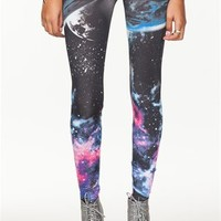 A'GACI Black Galaxy Leggings - New Arrivals