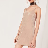Missguided - Petite Exclusive Pleated Cami Dress Pink