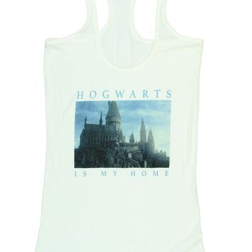Harry Potter Hogwarts Is My Home Juniors Tank Top