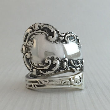 Size 8.5 Vintage Paisley Sterling Silver Spoon Ring