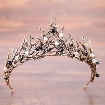 New Renaissance  Crystal Wedding Crown - Free Shipping