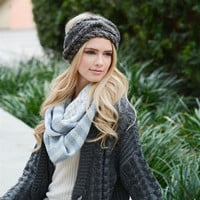 cozy knit head wrap