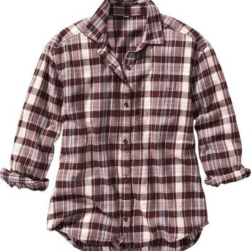 Old Navy Girls Plaid Flannel Shirt