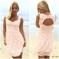 Grace Of Lace Babydoll Dress In Pink