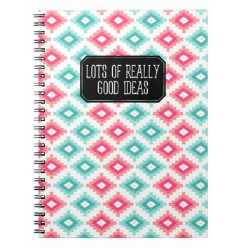 Colorful Navajo Pattern Lots of Really Good Ideas Spiral Notebooks