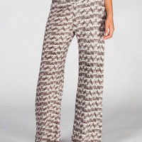 Full Tilt Womens Palazzo Pants Brown Combo  In Sizes