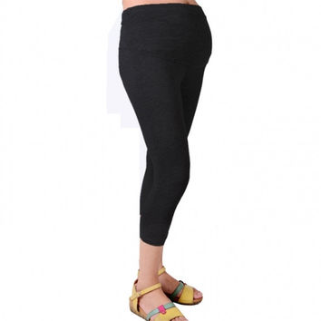 New Cropped Very Comfortable Maternity Cotton Leggings 3/4 Length Pregnancy