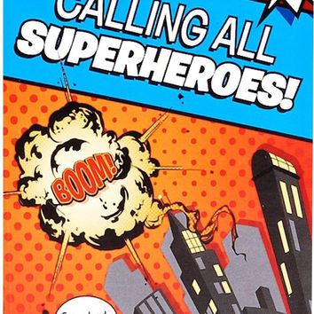 superhero comics invitations Case of 4