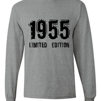 1955 Limited Edition Bday Long Sleeve Unisex T Shirt 58Th Bday Tee Great Birthday Gift Long Sleeve Happy 58th tee Shirt
