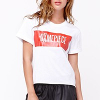 Dimepiece Statement Cropped T-Shirt - Womens Tee - White