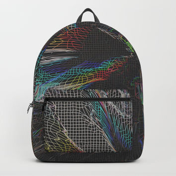 Get Lost -Grid Backpack by duckyb