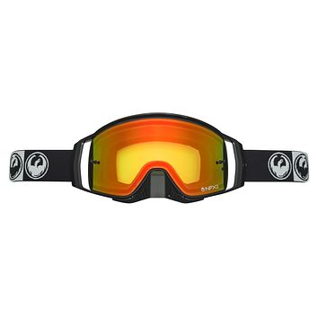 Dragon - NFX2 Podium MX Goggles / Injected Red Ion + 10 Pack Tear Offs + Lens Shield Lenses