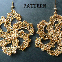 Crochet Pattern for Beautiful Earrings or Other Accessory