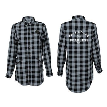 Black & Gray Fearless Flannel Shirt