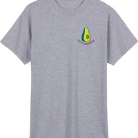 Embriodery Lets avocuddle Grey T shirt