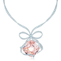 Tiffany & Co. - The Tiffany Anniversary Morganite necklace in platinum with diamonds.