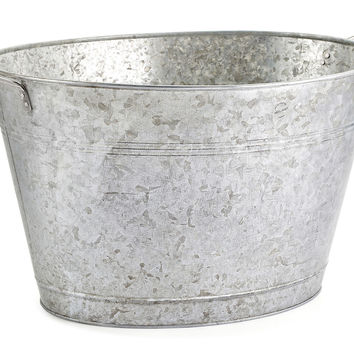 Oasis Party Tub, Galvanized Silver, Ice Buckets