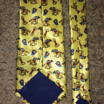Sale!! Vintage MICKEY MOUSE by Balancine Inc silk tie Retro Disney men's necktie Made in USA