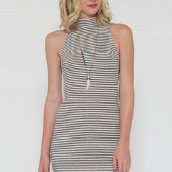 Ribbed Striped Dess Cut Out Side
