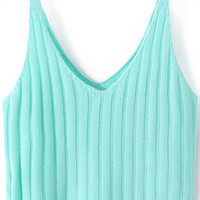 Light Green Quilted Crop Top