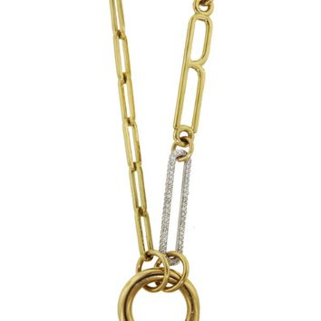 Small Initial Diamond Link Necklace