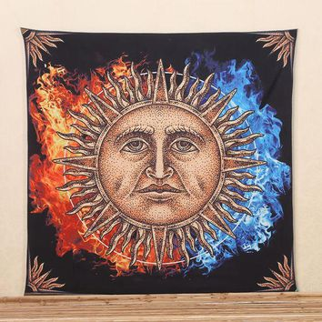 LMF9GW 2017 Hot Sun Pattern Indian Elephant Mandala Hippie Wall Hanging Tapestry Gypsy Bedspread Throw New Tapestry