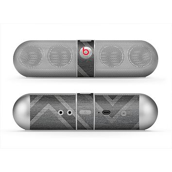 The Two-Toned Dark Black Wide Chevron Pattern V3 Skin for the Beats by Dre Pill Bluetooth Speaker