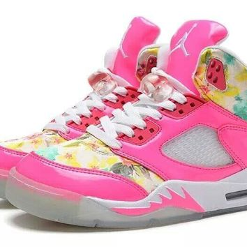 Nike Air Jordan 5 Floral Pink White Online For Girls Jordan 5 Floral Pink - Beauty Ticks