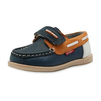 Children's Casual Flat Shoes Fashion New Boys Moccasins Kids Boy Non-slip Loafers Leather Shoes Arch Support