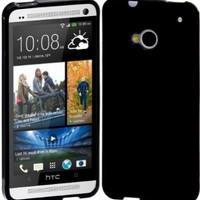 Cimo HTC One Case [ULTRA SLIM] Grip Premium Flexible TPU Cover for HTC One (M7, 2013) - Black
