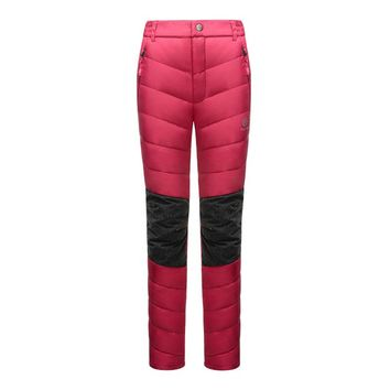 North Snow Winter Thick Thermal Warm Duck Down Hiking Pants Ski Pants Women Snowboard Pants Ice Skating Pants For Women