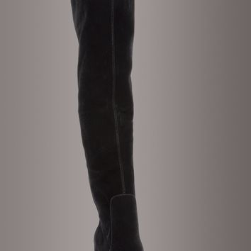 Matisse SCOUT Black Velvet Over The Knee Boot