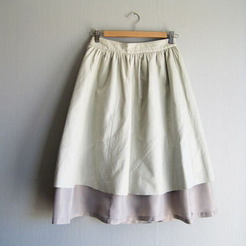 Leather skirt midi pastel up cycled size xsmall XS Fritala Finland