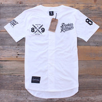 Doobious Ruffians White Cotton Baseball Jersey