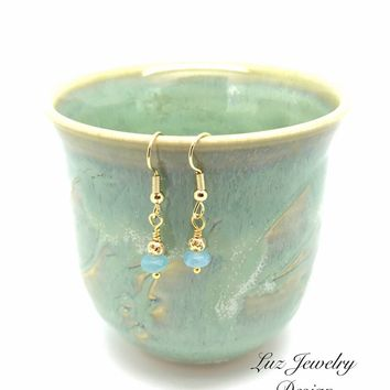 Aquamarine Drop Earrings-Aquamarine jewelry